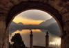 Unforgettable sunset.... (Alex Switzerland) Tags: sunset lake ceresio lugano luganese arch church kirche oudoor outside sonnenuntergang landscape paysage morcote ticino switzerland canon eos 6d light evening water