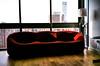 Red Sofa (Xenograft) Tags: ligne roset kodak s1100xl chinon fuji superia xtra 400 color negative film ligneroset