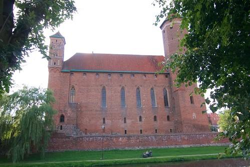 Zamek biskupów warmińskich w Lidzbarku Warmińskim od zachodu