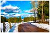 Route  jurassienne (Pascale_seg) Tags: landscape paysage montagne jura france snow sky cloud nuage tree forêt hiver winter route road mountain