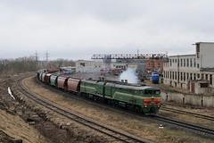 Belarusian 2TE10 departing Daugavpils (berlinger) Tags: daugavpils lettland беларускаячыгунка belarusianrailway latvia train railways locomotive бч bch 2тэ10 2te10