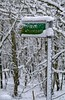 Here's One I Took Earlier (RoystonVasey) Tags: canon eos 400d sigma 1770mm zoom west yorkshire public footpath sign post snow trees