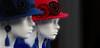 Demoiselles en Bleu Blanc Rouge (Pi-F) Tags: demoiselle mannequin blanc rouge bleu chapeau profil bokeh platre regard direction visage femme oblong deux duo binome