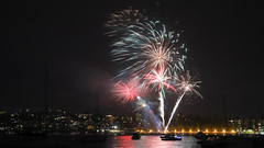 Manly New Year's Eve Fireworks 2017 (1) (geemuses) Tags: manly nsw newyearseve2017 manlycove fireworks fireworksdisplay light night bright color colour colours display event canon 6dmkii 2470mmlens bursts smoke cloud