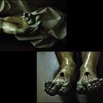 2 - Musée du Louvre - Christ mort - Madrid, Première moitié du 18ème siècle - Bois, polychromie - Détails thumbnail