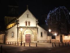 Ma petite église (Hélène Baudart) Tags: noel illumination nuit eglise
