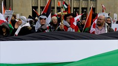 Palestinian protest (- Jacques) Tags: toronto street palestine protest people flags lx5