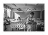 Eatery (Jan Dobrovsky) Tags: portrait biogon21mm people reallife leicam10 corridor humanity indoor child psychiatricclinic room blackandwhite eatery monochrome social human document