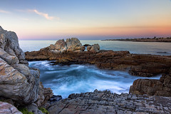 On the Rocks - Hermanus - South Africa 2017 (Wilma v H- Best wishes for a wonderful 2019) Tags: rocks rockpools sunrise dawn crackofdawn hermanus gearingpointhermanus longexposure waterscapes landscape southafrica southafrica2017 2017 westerncape atlanticocean ocean seascapes sea walkerbay luminositymasks tkactionsv5v6panel holiday travel sandstone