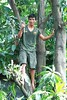 man in a tree (the foreign photographer - ฝรั่งถ่) Tags: man tree hatchet khlong thanon portraits bangkhen bangkok thailand canon