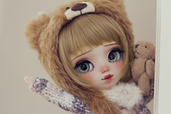 Hi! I'm Bear :3 (-Poison Girl-) Tags: pullip pullips doll dolls custom customs full bear for adoption fa poisongirlsdolls poisongirldolls poison girl white skin skintone natural blonde hair wig short bob haircut golden eyes eyechips green realistic handmade handpainted repaint repainted paint freckles pecas nose carving carved mouth lips sweet cute kawaii makeup faceup japan collector stock body eyelashes eyebrows eyeshadow blush 2017 december diciembre junplanning jun planning groove grooveinc