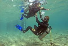 15dec01a (KnyazevDA) Tags: disability diver diving disabled handicapped underwater redsea hanukkah hanukah menorah lights candles israel eilat etgarim cmas amputee paraplegia paraplegic