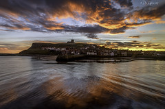 Old town, new day. (Dave Cappleman) Tags: whitby whitbydistrict dawn sunrise colours sea sky clouds sand patterns water bay