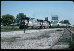LMX 8528 southbound on the ex-Frisco Fort Scott Subdivision at Lenexa, Kansas 09 October 1982 (redfusee) Tags: lmx bn