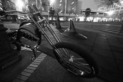 ...run with the hunted (professional recreationalist) Tags: brucedean professionalrecreationalist victoriabc orca echopperca echopper electricbike electric bike bicycle springer cityhall blackandwhite bw