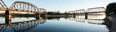 Waco Railroad Bridge (Matt D. Allen) Tags: steel bridge brazos river waco texas pratt parker truss railroad
