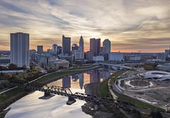 Sky Blitz (player_pleasure) Tags: mavicpro mavic drone columbus downtown cityscape hdr skyline skyscraper sunrise clouds reflection