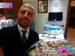 Foto in pegno n° 2581 (Luca Abete ONEphotoONEday) Tags: 24 dicembre 2017 cena vigilia natale christmas cibo food fish me selfie cravatta abete