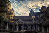 Angkor Wat 's center tower (Xversion1) Tags: suryavarmanii landscape sunset architecture siemreap reflection monument travel wonder lake angkorwat icon world religion hdr trip unesco nature sunrise jayavarmanvii cloud sky sun heritage sunlight cambodia orange temple mountain