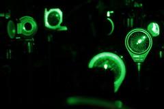 Laser optics (eichlera) Tags: laser green science physics optics quantum