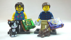 Brick Yourself Custom Lego Figures Book & Cat Loving Friends