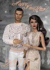 Happy New Year to all my Friends and Customers! (Culte De Paris) Tags: happy new year dolls hobby culte de paris julia leroy it integrity toys convention action figure male 2018 miniature handmade dress barbie rayna neo romantic wishes gifts celebration agnes nu face fr