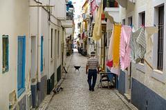 Nazare  DSC01180 (Chris Belsten) Tags: nazare portugal alley washing narrowalleyway atlantic