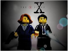 X-Files (LegoKlyph) Tags: lego custom xfiles brick block mini figure spooky mulder scully tv ghosts aliens ufo monsters mysteries scifi horror cult