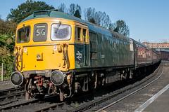 33108 at Bridgnorth 06.10.2012 (Wolfie2man) Tags: class331 svr bridgnorth severnvalleyrailway class33 33108 crompton