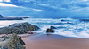 Rocky Dawn Seascape (Merrillie) Tags: batemansbay eurobodallashire maluabay australia beach clouds coast coastal dawn daybreak island landscape mountains nature newsouthwales nsw ocean rocks scenery sea seascape southcoast sun sunrise water waterscape