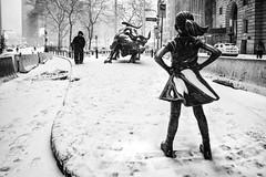 1st NYC Snowstorm 2018 - Grayson 1 (mkc609) Tags: foodcart holidaylights morningcommute morninglight snow snowstormgrayson storm wallstreet wallstreetbull street streetphotography bw blackandwhite blackwhite urban candid nyc newyork newyorkcity