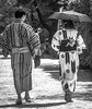 Getting to know one another. (katebosworth1) Tags: kyoto japan tradition walking umbrella kimono textile park