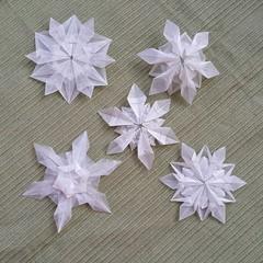 No real snow this year... (Aneta_a) Tags: origami snowflake hexagon transparentpaper denniswalker dasaseverova riccardofoschi tomokofuse jonakashima