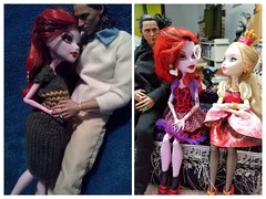 Then and now (Black Rose Bride) Tags: toys monsterhigh everafterhigh operetta applewhite hottoys loki marvel dolls dotdeadgorgeous