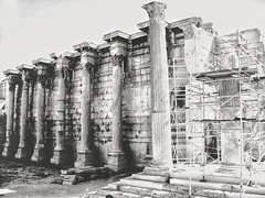 Columns of an old library 📚 (LUMEN SCRIPT) Tags: monochrome colonnade columns archaeology greece athens ruins history blackwhite blackandwhite architecture