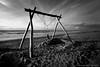 """""""Closed..."""" (Dirk van der Veen) Tags: bw blackandwhite noordwijk beach"""