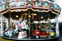Carousel 2 (AEmets) Tags: escalade kodakportra400 leicamp switzerland movement blurred