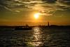 Statue of Liberty1 (Maryna Beliauskaya) Tags: statue statueofliberty manhattan newyork sunset hudson hudsonriver sun ferry sky water usa