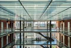 The Visitors (*Capture the Moment*) Tags: 2017 architecture architektur atrium backlight backlit fotowalk gegenlicht häuserwohnungen innenarchitektur licht light munich münchen sonya6300 sonyfe1635mmf4zaoss sonyilce6300
