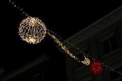 Christmas Lights # 5 (just.Luc) Tags: christmas kerstmis noël weihnachten nacht nuit night evening avond abend soir dunkel donker dark lights lichten lumières mechelen malines belgië belgien belgique belgica belgium vlaanderen flandres flanders europa europe red rood rouge rot wit white blanc weiss