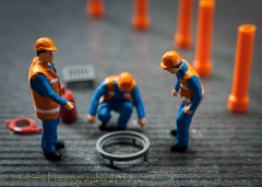 At Work (HMM) (13skies) Tags: hmm macromondays redux2017 orangeandblue macroscopic homodelrailroadfigures small workers roadcrew macromonday close sonyalpha100 happymacromonday dof depthoffield tiny smallfigures