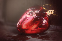 Redux 2017- Heart (victoriameyo) Tags: redux2017myfavoritethemeoftheyear macromondays heart red wet valentine love shape glass toy christmas newyear drops water