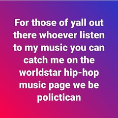 Yea 4sho I was chopping it up with the #worldstarhiphop on #Twitter I'm gonna send them a track 4sho #follow #f4f #followme #followforfollow #follow4follow #teamfollowback #followher #followbackteam #followhim #followall #followalways #followback #ifollow (black god zilla) Tags: yea 4sho i was chopping it up with worldstarhiphop twitter im gonna send them track follow f4f followme followforfollow follow4follow teamfollowback followher followbackteam followhim followall followalways followback ifollowback ialwaysfollowback pleasefollow follows follower following fslc followshoutoutlikecomment