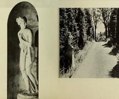 Allerton Park 1932 Lost Garden Venus detail & Chinese Musician pathway, Monticello, IL 1951 (RLWisegarver) Tags: piatt county history monticello illinois usa il