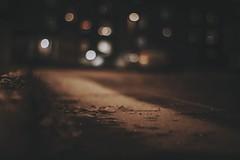 Night (A blond-Tess) Tags: 365days photochallenge night nighttime canon bokeh dark outdoorphotography outdoors shallowdof dof frost frosty street lights cold january