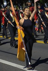 The Parade Wave (swong95765) Tags: parade highschool flaggirl smiling waving pretty cute
