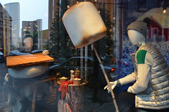 the largest marshmallow (mcfcrandall) Tags: window lookingin baystreet hbc store marshmallow smores holiday christmas winter display mannequins