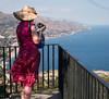 Enjoying the scenery (grannie annie taggs) Tags: tourist taormina sicily view