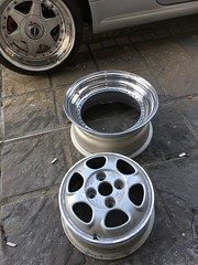 Old school wheels Intra for VW GOLF1/2/3 (horsewearshoes) Tags: volkswagen golf gti lupo bbs rs speedline