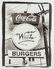 Whiz Burgers (gold toned vandyke brown print) (aweiss.sf) Tags: 38mm alternativeprocess analogphotography analogue bandw blackwhite brownprint burgers bw400cn cocacola coke film halfframe ishootfilm kodak mission missiondistrict pen penft sanfrancisco sign signage signs southvanness vandyke vdb